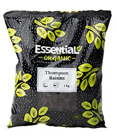 Essential Thompson Raisins Organic 1kg