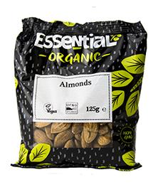 Essential Almonds Whole Organic 125g