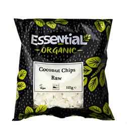 Essential Coconut Chips Raw Organic