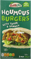 Goodlife Houmous Burgers With Tahini & Spinach