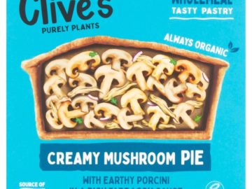 Clive's Creamy Mushroom Pie Organic
