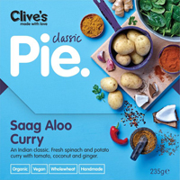 Clive's Saag Aloo Curry Pie Organic