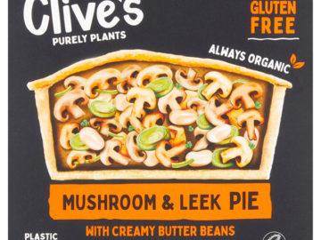 Clive's Mushroom & Leek Pie Gluten Free Organic