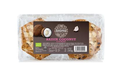 Biona Raisin Coconut Cookies Organic