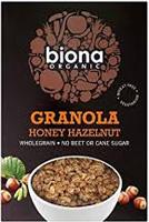 Biona Honey Hazelnut Crunchy Granola Organic