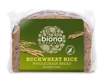 Biona Buckwheat Rice Wholegrain Bread Organic