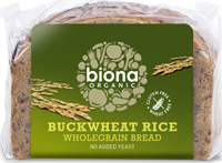 Biona Buckwheat Rice Wholegrain Bread Organic