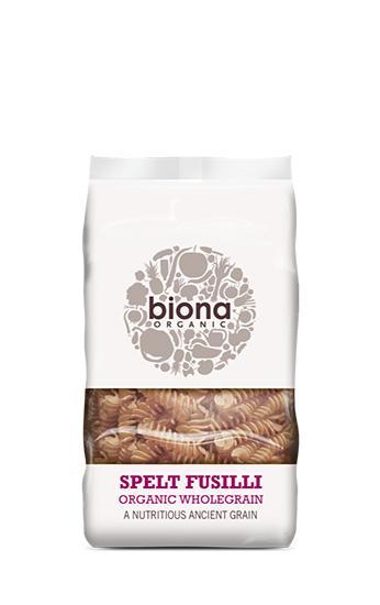Biona Wholewheat Spelt Fusilli Organic