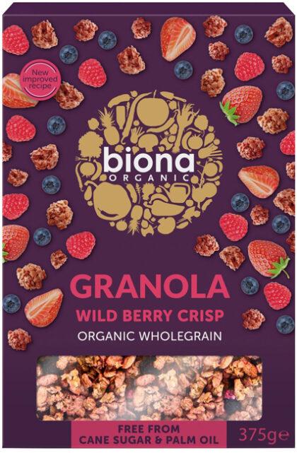Biona Wild Berry Crispy Granola Organic