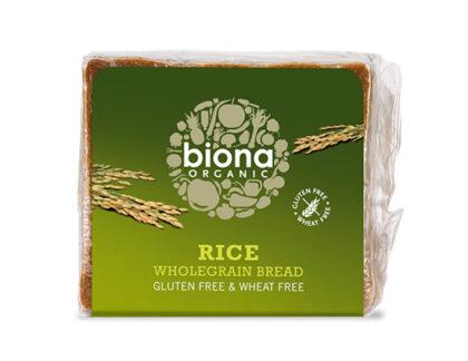 Biona Rice Wholegrain Bread Gluten Free Organic