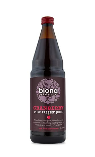 Biona Cranberry Pure Pressed Superjuice Organic 750ml