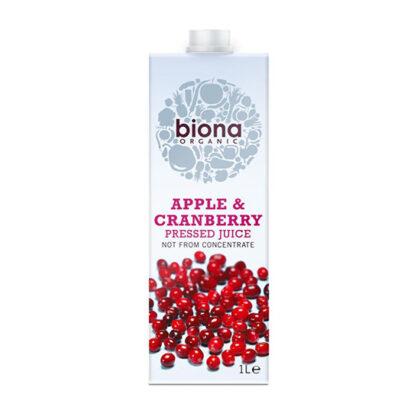 Biona Apple & Cranberry Pressed Juice Organic