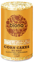 Biona Corn Cakes No Salt Organic