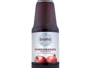 Biona Pure Pomegranate Juice Organic 1lt