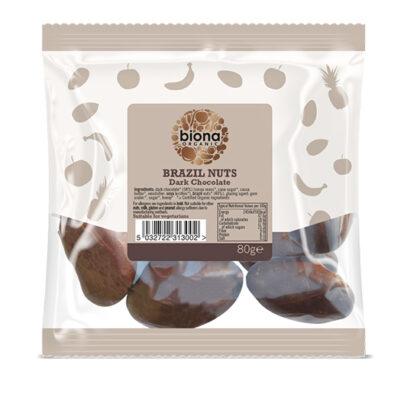 Biona Dark Chocolate Brazil Nuts Organic