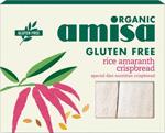 Amisa Rice Amaranth Crispbread Organic
