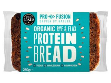 Pro Fusion Protein Bread Rye & Flax Organic