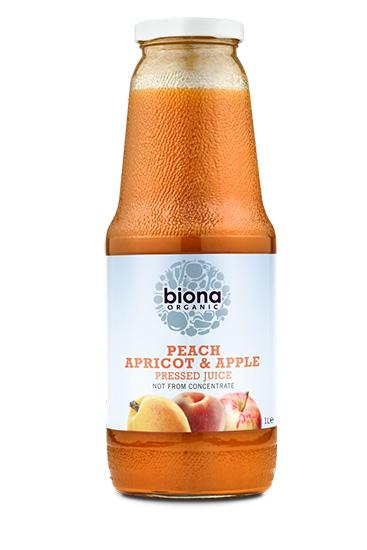 Biona Peach Apricot & Apple Pressed Juice Organic