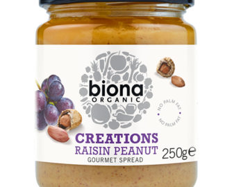 Biona Creations Raisin Peanut Gourmet Spread Organic