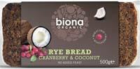 Biona Rye Bread Cranberry & Coconut Organic