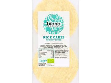 Biona Rice Cakes Yoghurt Dipped Organic