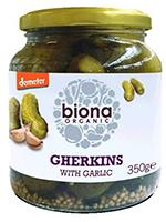 Biona Gherkins With Garlic Organic