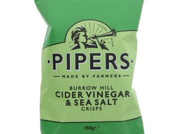 Pipers Burrow Hill Cider Vinegar & Sea Salt Crisps
