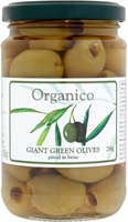 Organico Green Pitted Olives In Brine Organic