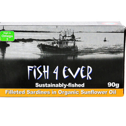 Fish 4 Ever Filleted Sardines In Organic Sunflower Oil