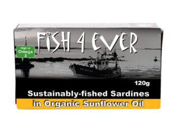 Fish 4 Ever Sardines in Organic Sunflower Oil