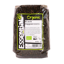 Essential Black Peppercorns Organic 500g