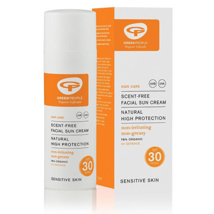 Green People Scent Free SPF 30 Facial Sun Cream Organic