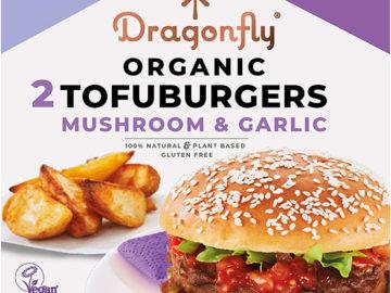 Dragonfly Mushroom Miso & Garlic Tofuburgers