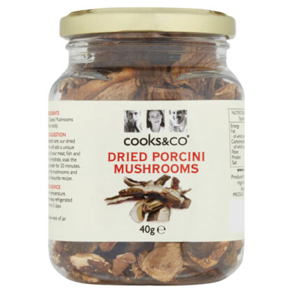 Cooks & Co Dried Porcini Mushrooms 40g