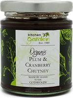 Kitchen Garden Plum and Cranberry Chutney Organic