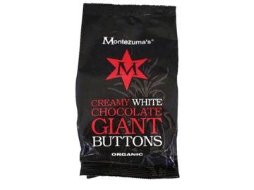 Montezuma's White Chocolate Giant Buttons Organic