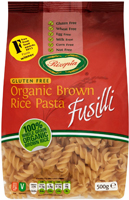 Rizopia Brown Rice Fusilli Pasta Organic