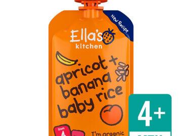 Ella's Kitchen Bananas Apricots & Baby Rice Organic