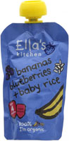 Ella's Kitchen Bananas Blueberries & Baby Rice Organic