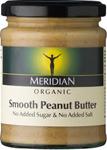 Meridian Smooth Peanut Butter No Added Sugar or Salt Organic