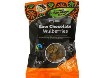 The Raw Chocolate Co Raw Chocolate Mulberries Organic 32g