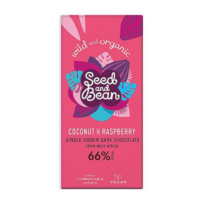 Seed & Bean Coconut & Raspberry Extra Dark Chocolate Organic