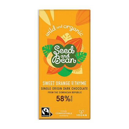 Seed & Bean Co Sweet Orange & Thyme Dark Chocolate Organic