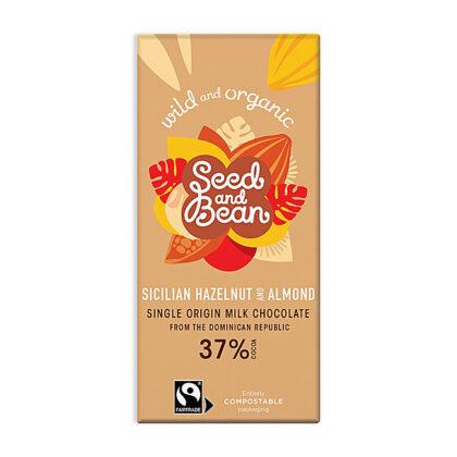 Seed & Bean Co Sicilian Hazelnut & Almond Milk Chocolate Organic