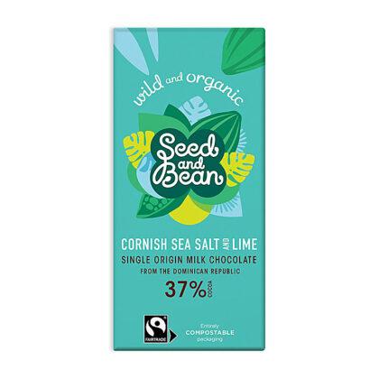 Seed & Bean Co Milk Chocolate Sea Salt & Lime Organic