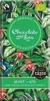 Chocolate & Love Mint Crunch Dark Chocolate Organic