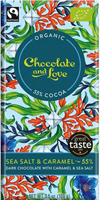 Chocolate & Love Sea Salt & Caramel 55% Dark Chocolate Organic