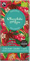 Chocolate & Love Creamy Dark 55% 80g Organic