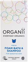 Organii Fresh Foam Bath & Shampoo Sensitve Organic