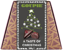 Goupie A Taste Of Christmas Chocolate Confection 180g